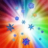 Partiklar på en färgrik bakgrund royaltyfri illustrationer