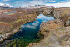 Partilha continental Islândia II Foto de Stock