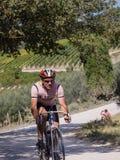 Partipant no identificado de L'Eroica, Italia Foto de archivo libre de regalías