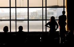Partir sur un avion à réaction Photos libres de droits