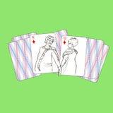 A partire dalla durata delle carte da gioco illustrazione vettoriale
