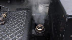 Partisk rörlig motor för siktsånga - ångaventilationsventil lager videofilmer