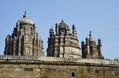 Partisk sikt av den Bhuleshwar templet, Pune, Maharashtra fotografering för bildbyråer
