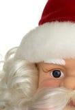 Partisk sikt av en Santa Claus dockaframsida Arkivbild