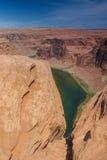 Partisk sikt av hästskokrökningen i det Arizona tillståndet, Förenta staternanolla arkivfoto