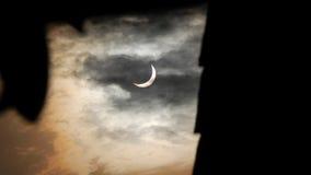Partisk sol- förmörkelse 2016 Royaltyfri Bild