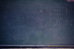 Partiskt slut för klassrumsvart tavla fotografering för bildbyråer