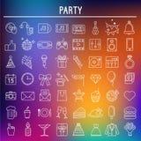 Partisymbolsuppsättning, symboler vektor Royaltyfria Foton