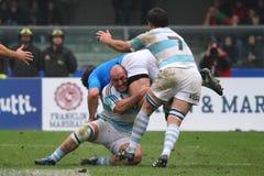 Partita amichevole 2010 di rugby: L'Italia contro l'Argentina (16-22) Immagini Stock Libere da Diritti