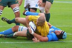 Partita amichevole 2010 di rugby: L'Italia contro l'Australia Fotografie Stock Libere da Diritti