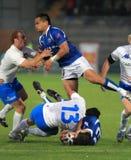 Partita amichevole Italia di rugby contro la Samoa; Canale Fotografia Stock Libera da Diritti