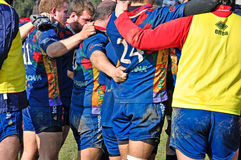 Partita Cus Torino di rugby contro rugby Paese Fotografia Stock Libera da Diritti