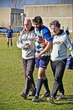 Partita Cus Torino di rugby contro rugby Paese Fotografia Stock