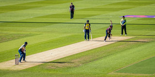 Partita del cricket T20 Immagini Stock