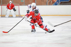 partita dell'hockey fotografia stock