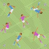 Partita di calcio del modello Immagini Stock