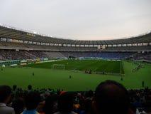 Partita di calcio della J-lega in Chofu Fotografie Stock Libere da Diritti