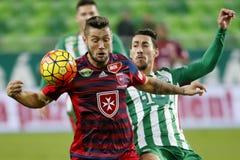 Partita di calcio della lega della Banca di Videoton - di Ferencvaros OTP Fotografia Stock Libera da Diritti