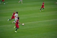 Partita di calcio fra il Portogallo ed il Messico Mosca nel 2 giugno 2017 Fotografie Stock Libere da Diritti