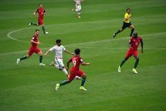 Partita di calcio fra il Portogallo ed il Messico Mosca nel 2 giugno 2017 Immagini Stock Libere da Diritti