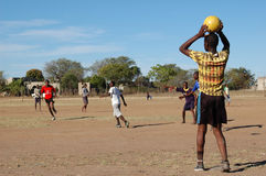 Partita di football americano africana Fotografia Stock Libera da Diritti