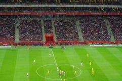 Partita di football americano allo stadio nazionale a Varsavia, Polonia Immagini Stock