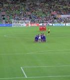 Partita di football americano asiatica di calcio della tazza Immagine Stock