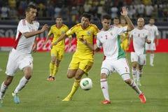 Partita di football americano dell'Ungheria - della Romania Immagini Stock Libere da Diritti