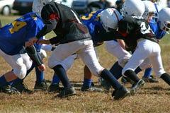 Partita di football americano di azione Fotografie Stock Libere da Diritti
