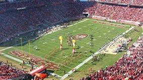 Partita di football americano di SF 49ER Fotografie Stock