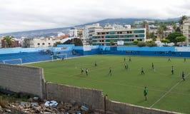 Partita di football americano nelle Canarie fotografie stock