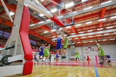 Partita di pallacanestro Fotografia Stock