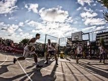 partita di pallacanestro 3x3 Fotografie Stock