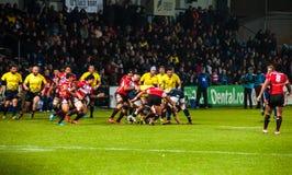 Partita di rugby in Romania Immagine Stock