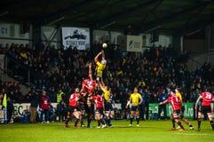 Partita di rugby in Romania Immagini Stock