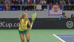 Partita di tennis nella tazza delle nazioni