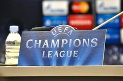 Partita fra FC Shakhtar contro FC Baviera Champions League Fotografia Stock