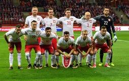 Partita Polonia - il Kazakistan di qualificazione di Rusia della coppa del Mondo 2018 Fotografie Stock Libere da Diritti
