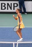Partita Ucraina di tennis di FedCup contro l'Argentina Immagini Stock