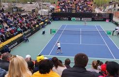 Partita Ucraina di tennis di FedCup contro l'Argentina Fotografie Stock Libere da Diritti