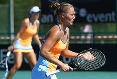 Partita Ucraina di tennis di FedCup contro l'Argentina Immagine Stock