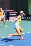 Partita Ucraina di tennis di FedCup contro l'Argentina Fotografia Stock