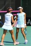 Partita Ucraina di tennis di FedCup contro l'Argentina Immagini Stock Libere da Diritti