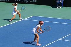 Partita Ucraina di tennis di FedCup contro l'Argentina Fotografie Stock