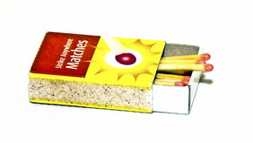 Partite e scatola di fiammiferi Fotografie Stock