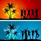 Partiti della spiaggia royalty illustrazione gratis