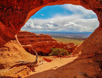 Partition Arch at Arches National Park Stock Photo