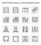 Partition wall icon. Partition wall or divide space equipment icon set Royalty Free Stock Image