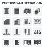 Partition wall icon. Vector icon of partition wall for divide space of room Royalty Free Stock Photos