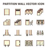 Partition wall icon. Vector icon of partition wall or divide space equipment isolated on white background Stock Photo